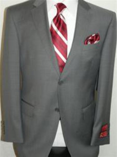 Gray Sharkskin Suit By Mantoni