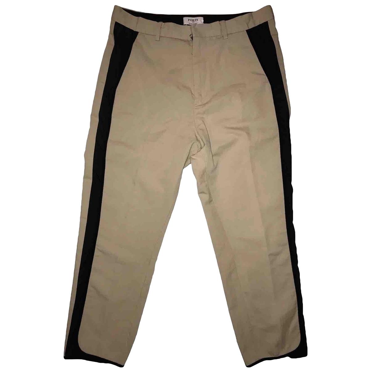 Ports 1961 \N Beige Trousers for Men 46 IT