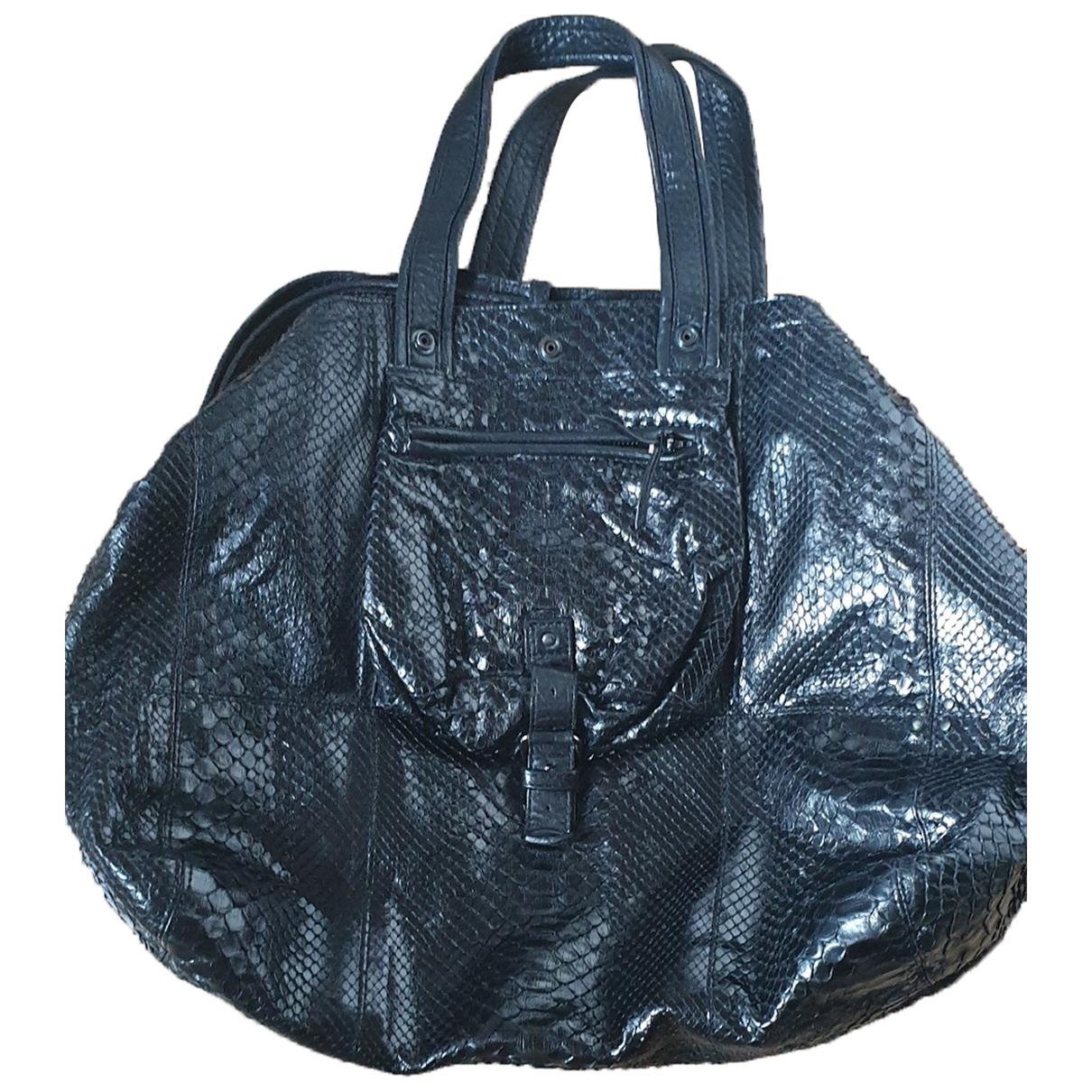 Jerome Dreyfuss Billy Black Python handbag for Women \N
