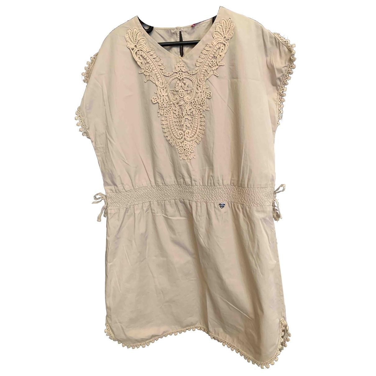 Liu.jo \N Kleid in  Beige Baumwolle