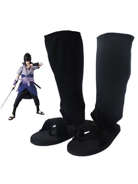 Milanoo Naruto Uchiha Sasuke Halloween Cosplay Shoes Halloween