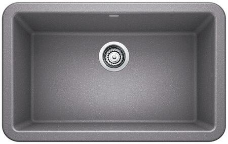 401778 Ikon Silgranit 30Apron Front Single Bowl Kitchen Sink In Metallic