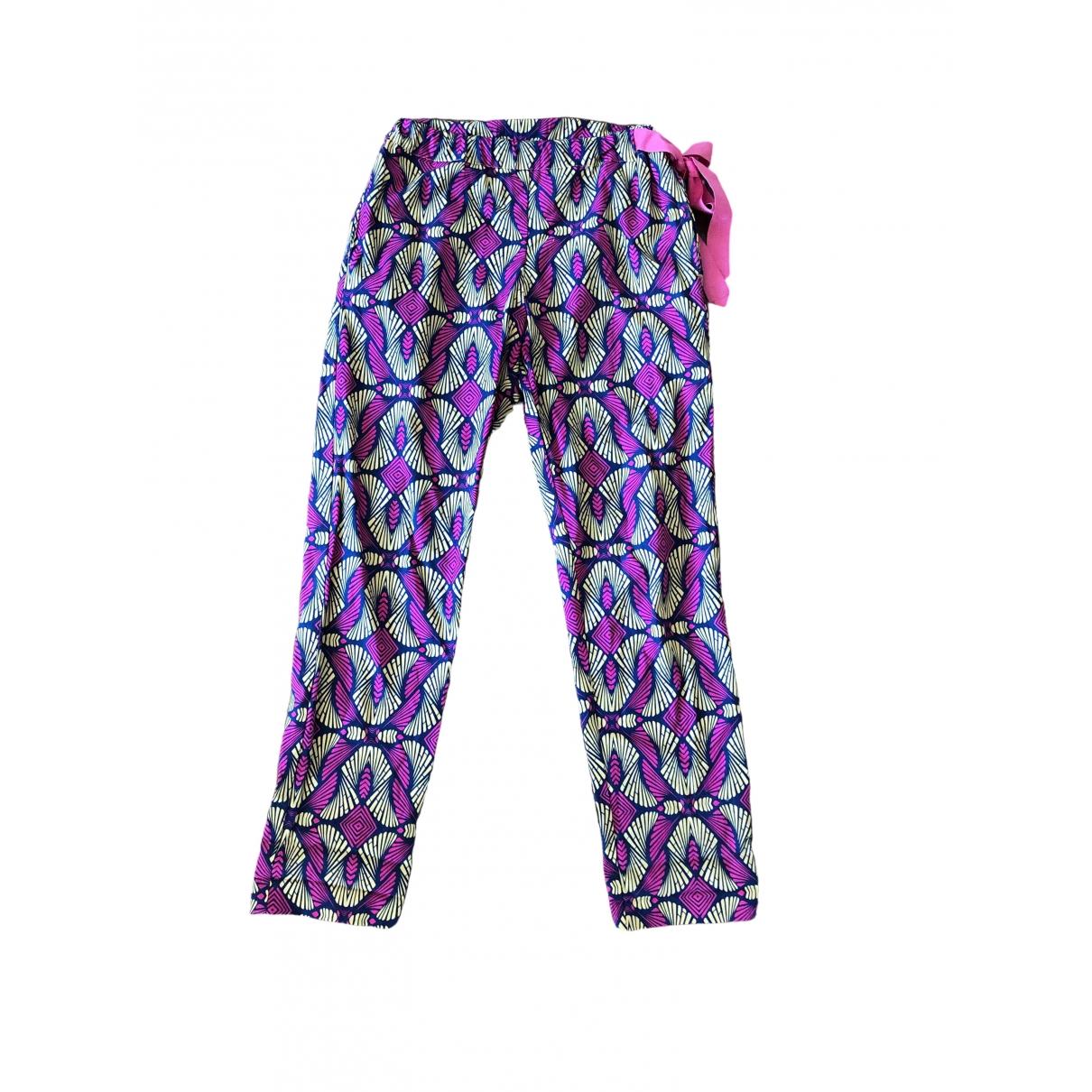 Pinko \N Multicolour Cotton Trousers for Women 40 IT