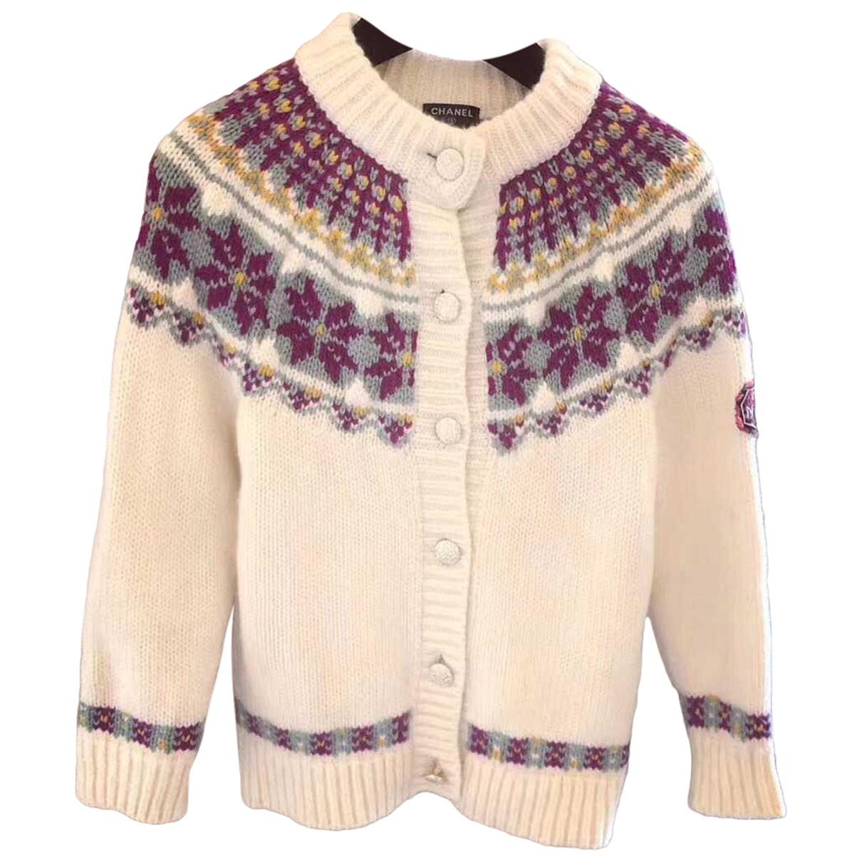 Chanel - Pull   pour femme en laine - blanc