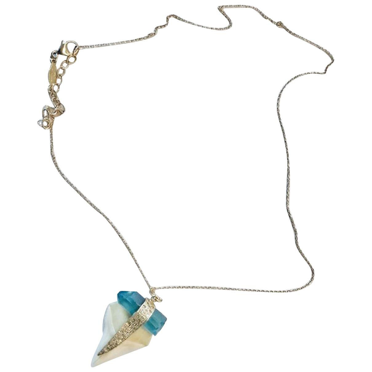 Jacquie Aiche - Collier   pour femme en or jaune - bleu