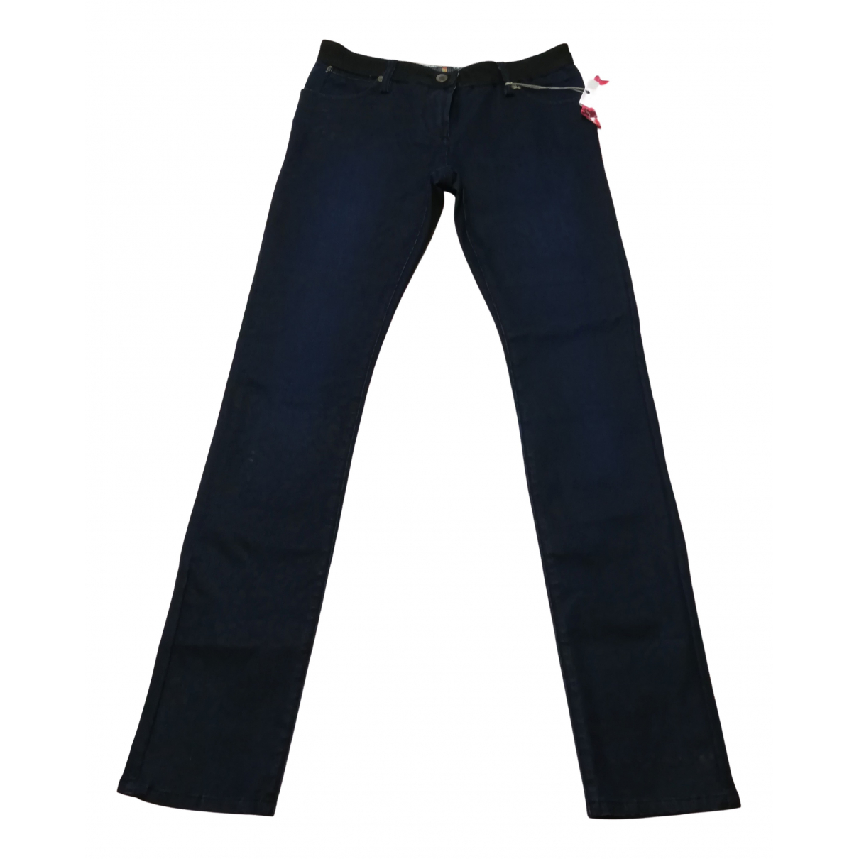 Non Signé / Unsigned \N Blue Cotton - elasthane Jeans for Women 38 FR