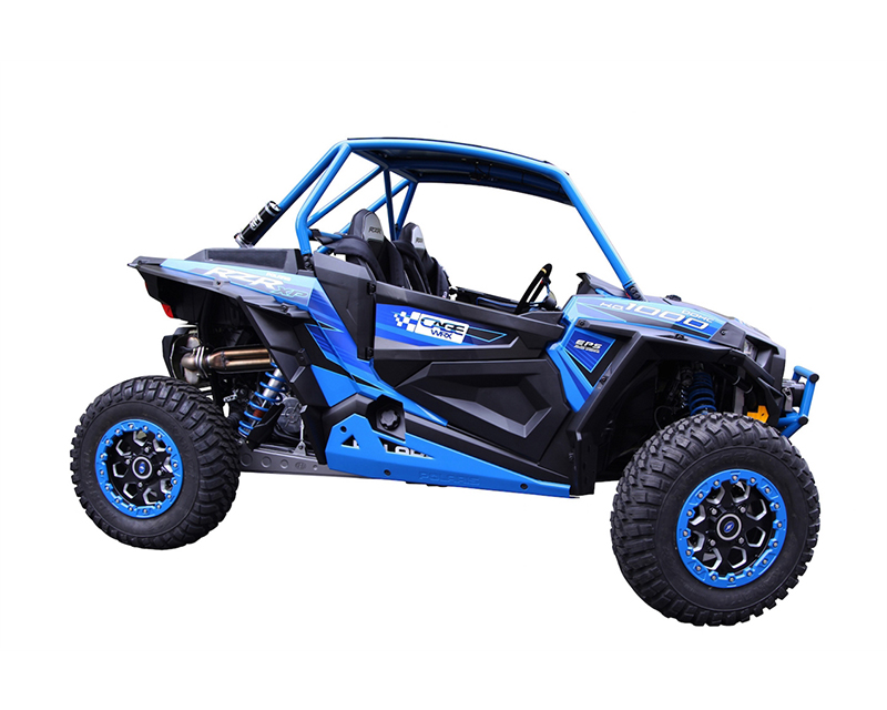 CageWrx CAG2SXP1KRC Unfinished Steel Fully Assembled Race Cage with Roof and Tabs Polaris RZR XP Turbo 16-18