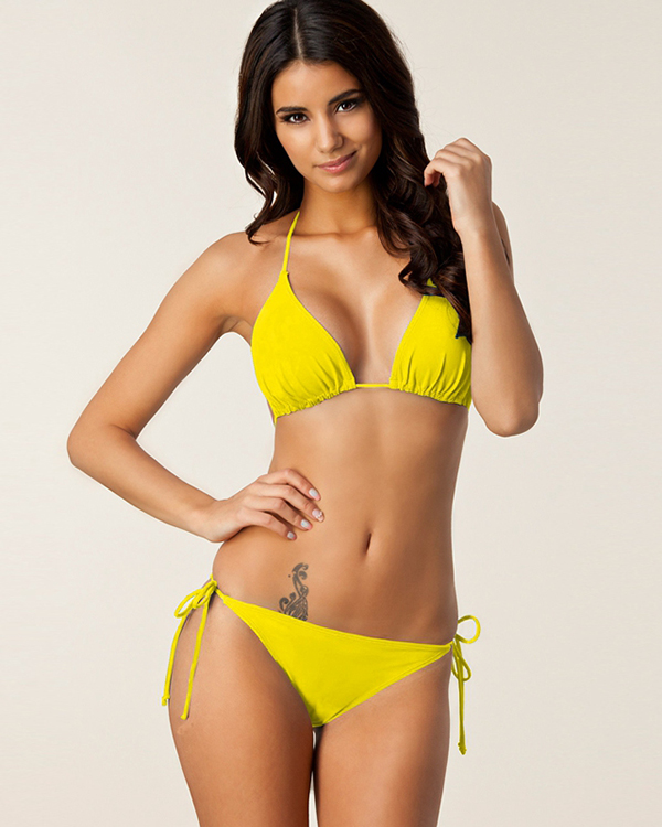 Bandage Women Halter Two-piece Bikini Set