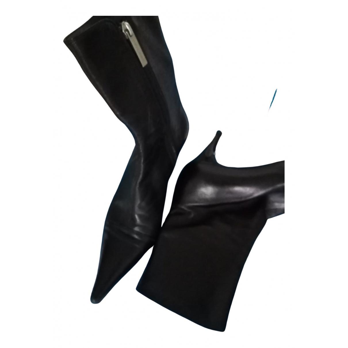 Luciano Padovan - Bottes   pour femme en cuir - noir