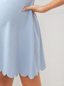 Maternity Scallop Edge Solid Dress