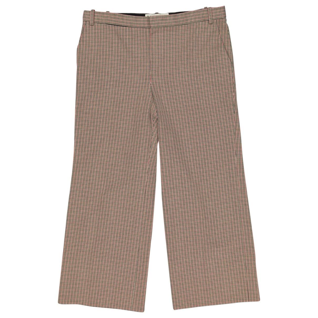 Balenciaga \N Brown Cotton Trousers for Women 36 FR