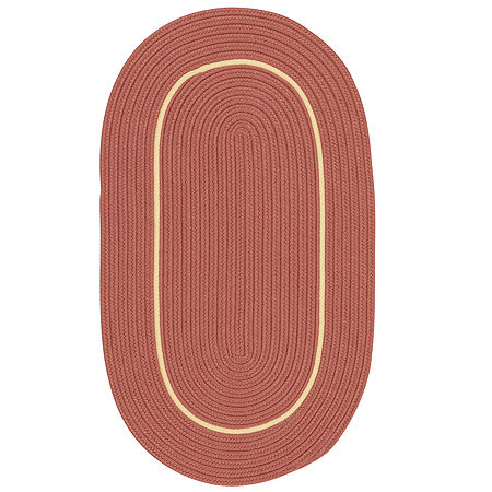 Colonial Mills Sapphire Bay Braided Oval Reversible Indoor/Outdoor Rugs, One Size , Orange