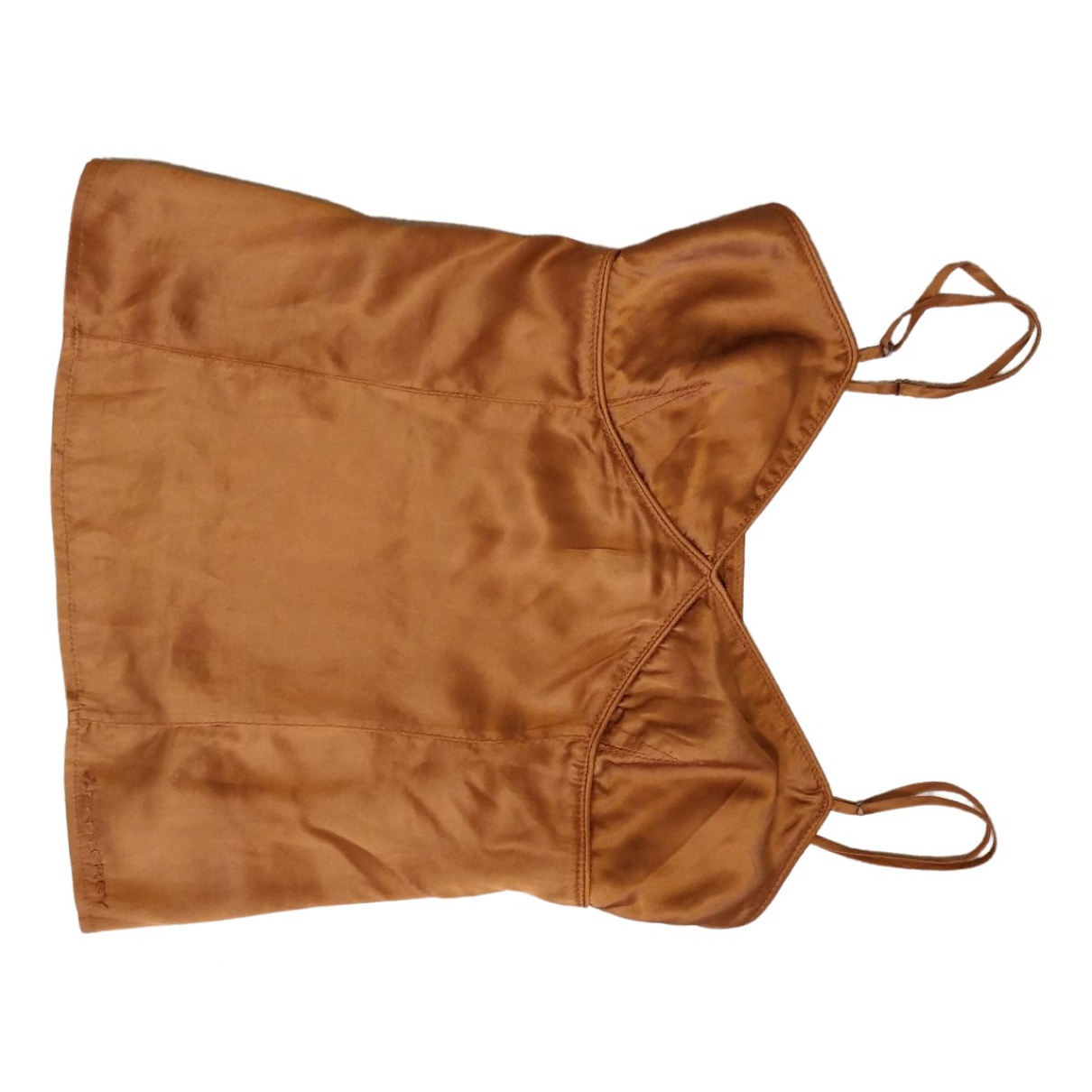 Peuterey \N Brown Silk  top for Women 42 IT