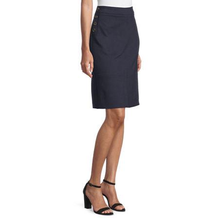 Liz Claiborne Womens A-Line Skirt, 8 , Blue