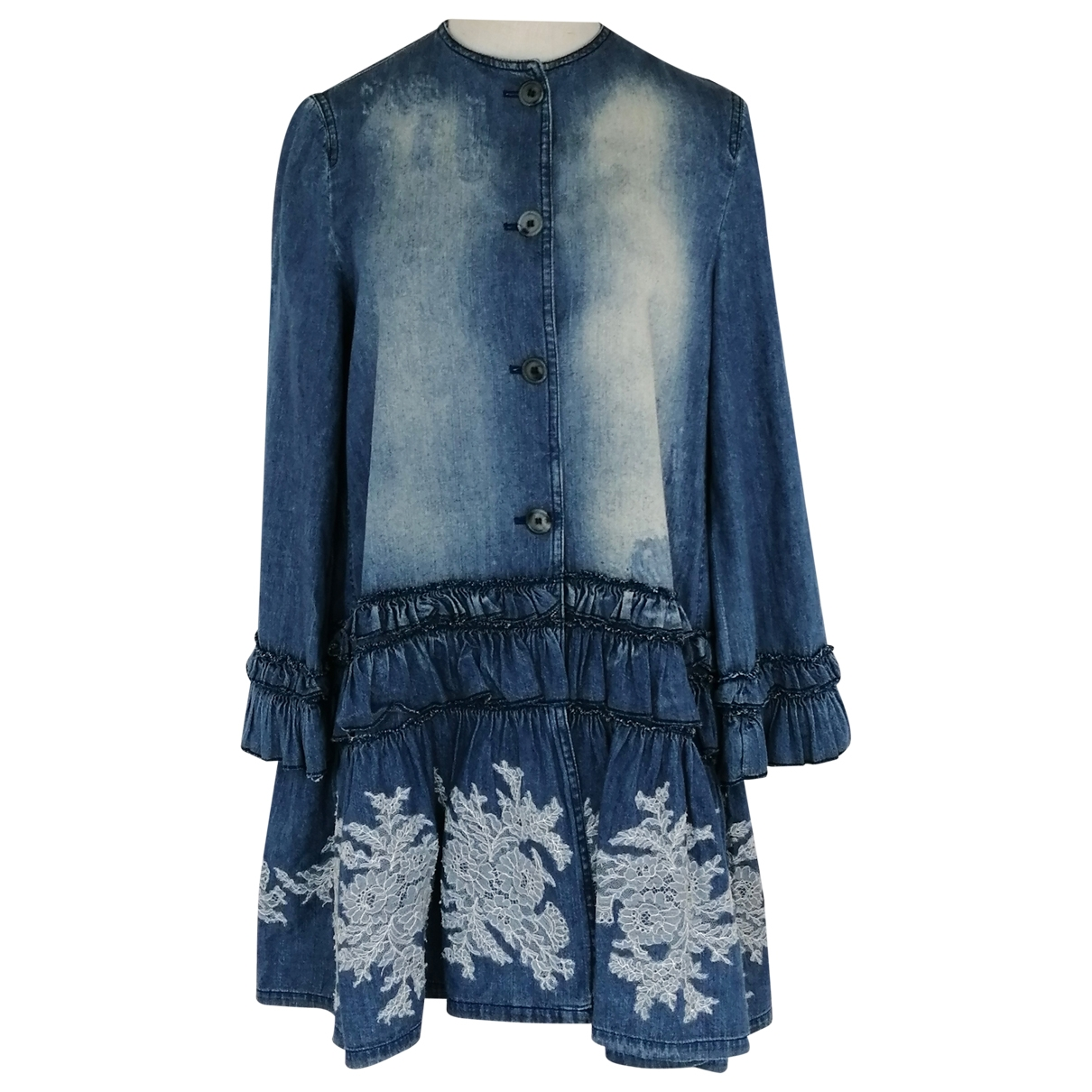 Ermanno Scervino \N Blue Cotton dress for Women 38 IT