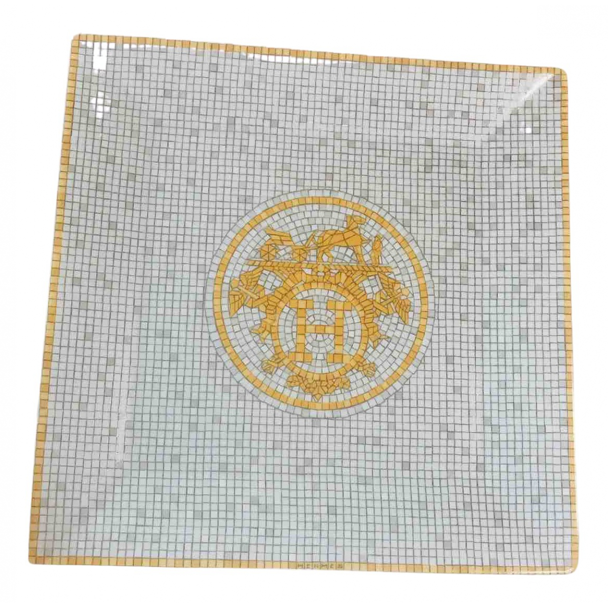 Hermes - Arts de la table Mosaique au 24 pour lifestyle en porcelaine - blanc
