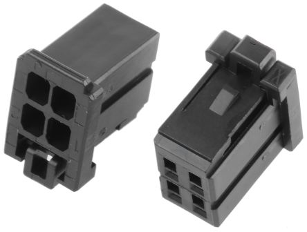 TE Connectivity , Dynamic 1000 Female Connector Housing, 2.5mm Pitch, 4 Way, 2 Row (5)