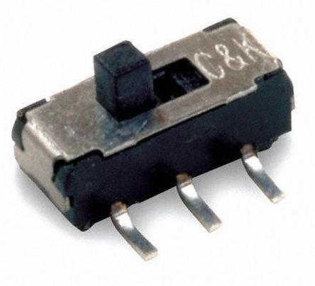 C & K Surface Mount Slide Switch Single Pole Double Throw (SPDT) Latching 300 mA Slide