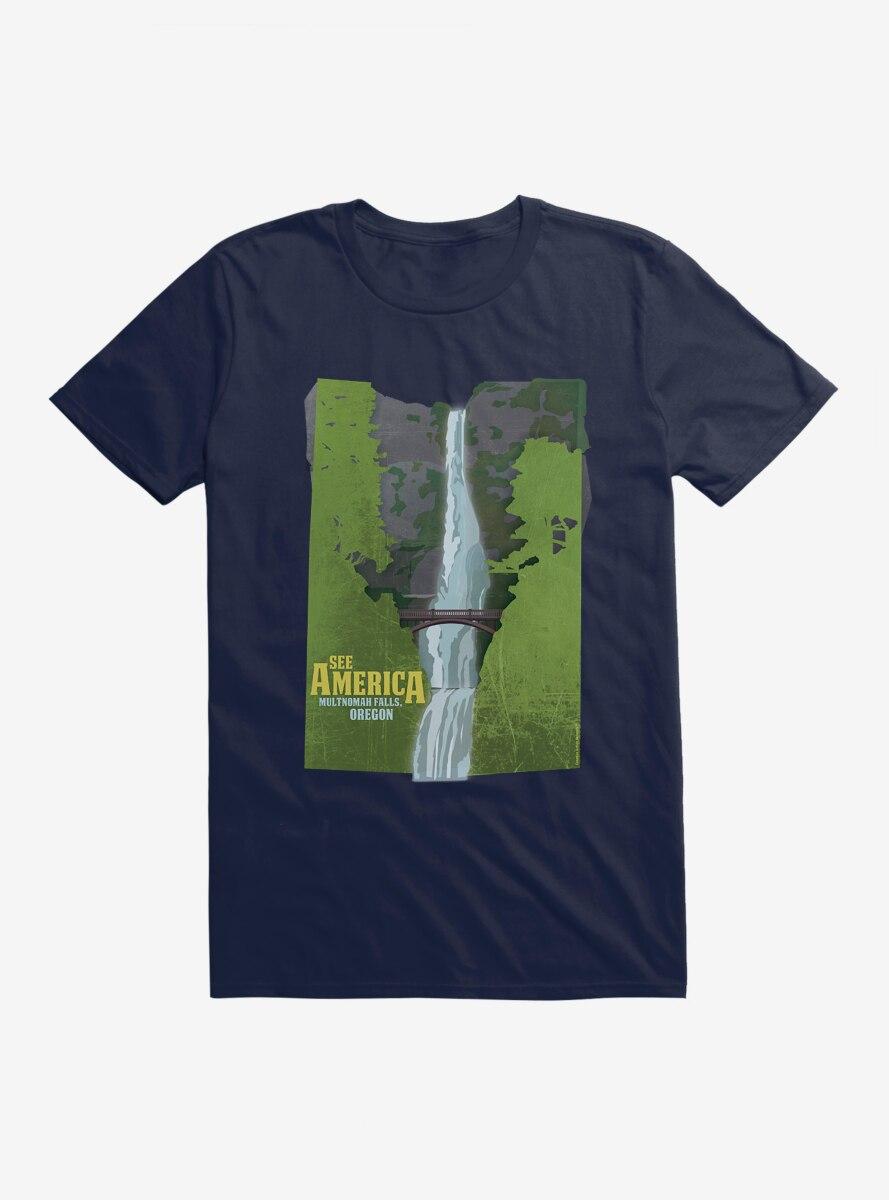 See America Multnomah Falls T-Shirt