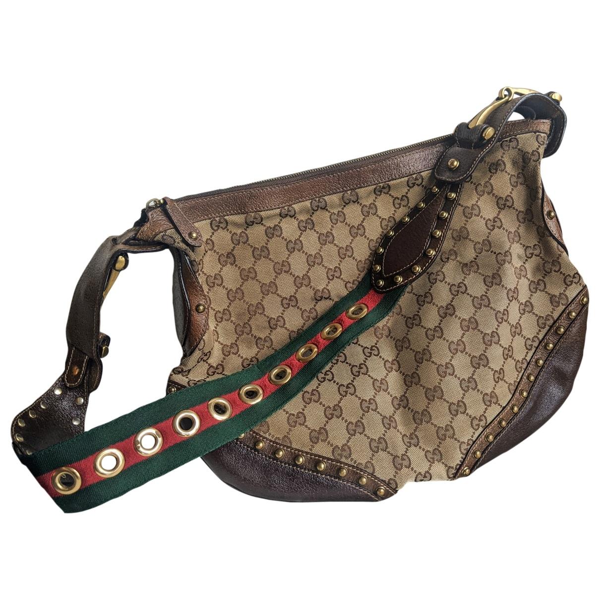 Gucci Pelham Handtasche in  Braun Leinen