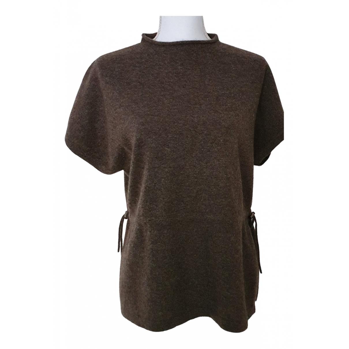 - Top   pour femme en laine - marron