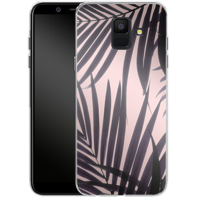 Samsung Galaxy A6 Silikon Handyhuelle - Delicate Jungle Theme von Emanuela Carratoni