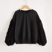 Pullover mit Laternenaermeln