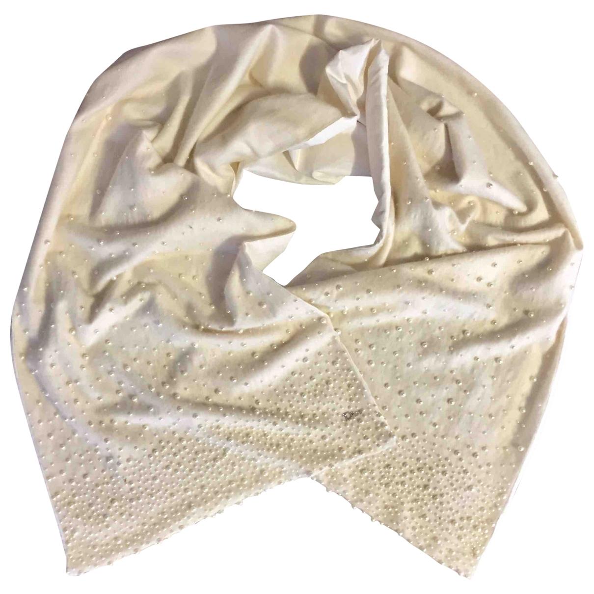 Dior \N Ecru Cashmere scarf for Women \N