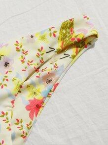 Floral Knot Front Bikini Swimsuit