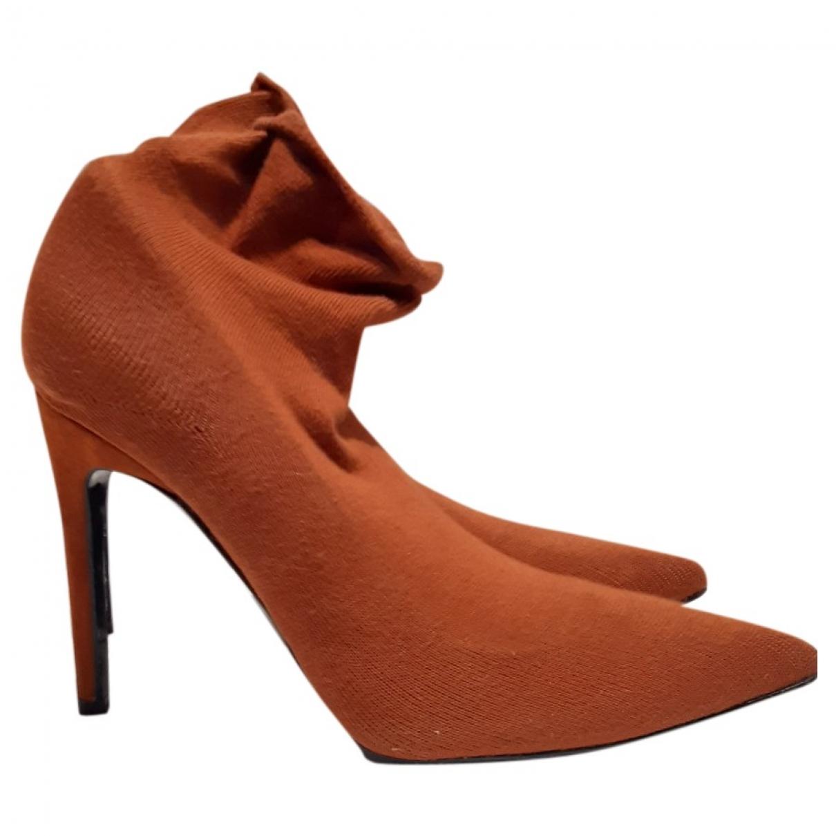 Zara - Boots   pour femme en toile - orange