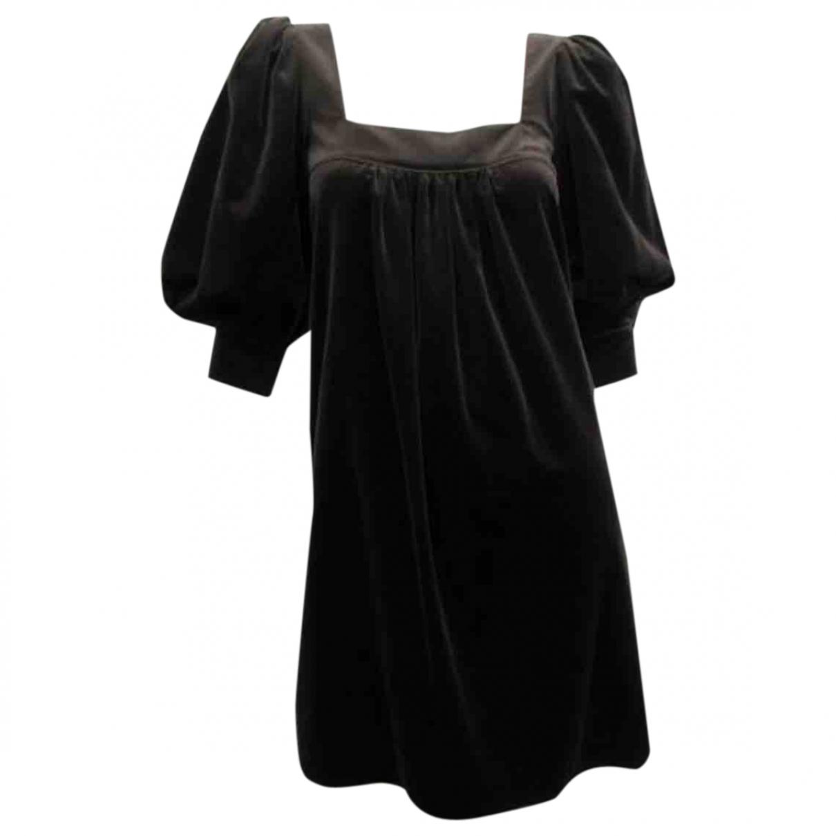 D&g - Robe   pour femme en velours - marron