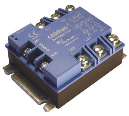 Celduc 75 A Solid State Relay, Zero Crossing, Panel Mount, Thyristor, 600 V ac Maximum Load