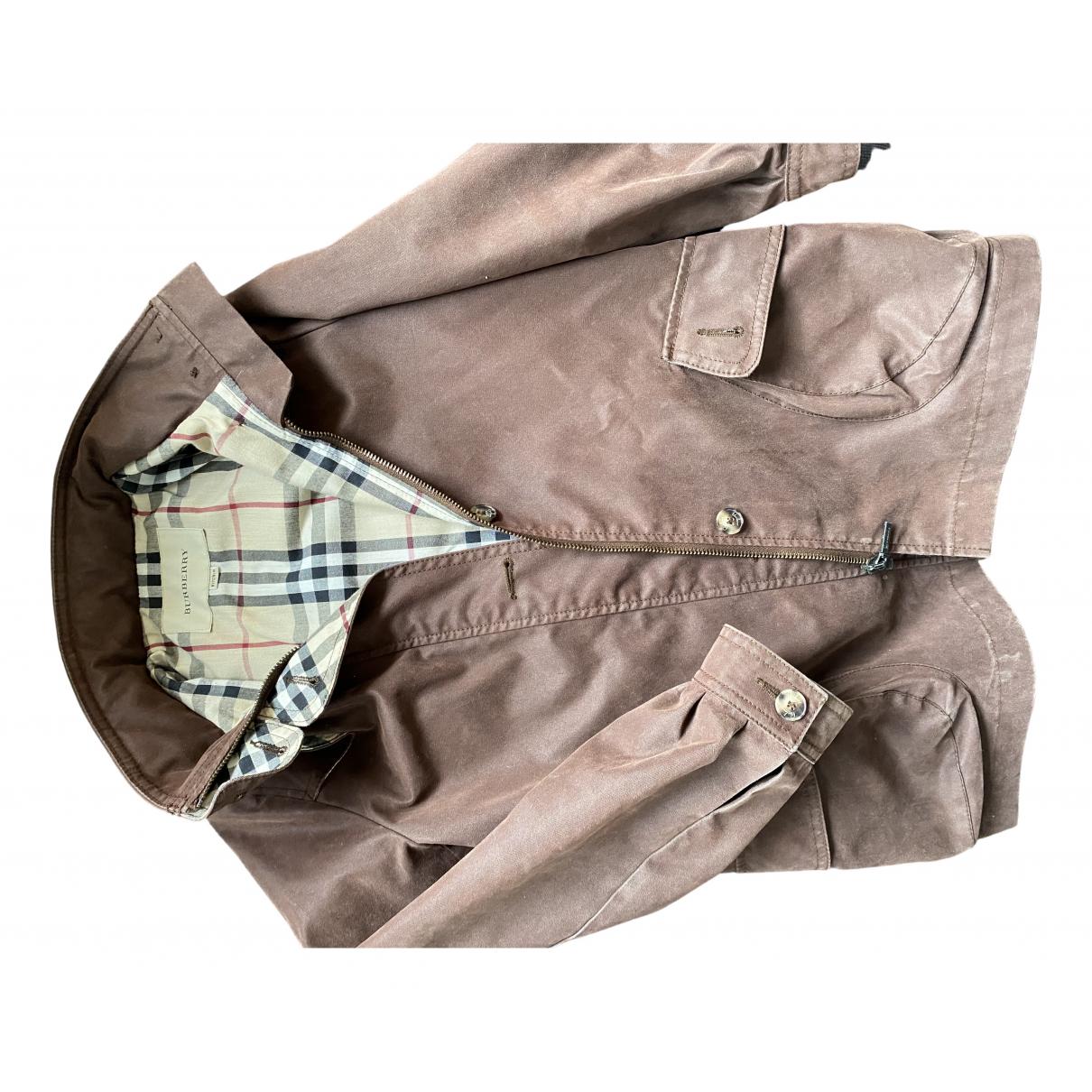 Burberry - Blousons.Manteaux   pour enfant en suede - marron