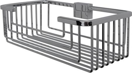 Essentials 53646NI Large Deep Square Rungs Soap and Sponge Basket 3 1/8