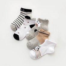 5 Paare Kleinkind Jungen Socken mit Streifen Muster