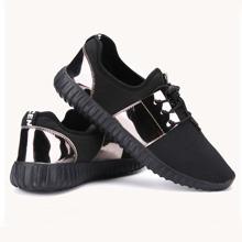 Zapatillas deportivas arriba baja sin cordones de hombres