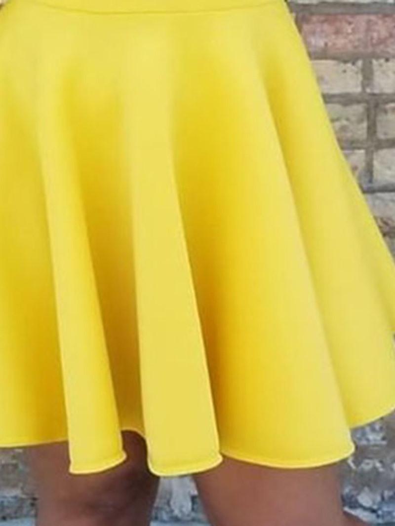 Ericdress Mesh V-Neck Long Sleeve Date Night/Going Out Mid Waist Dress