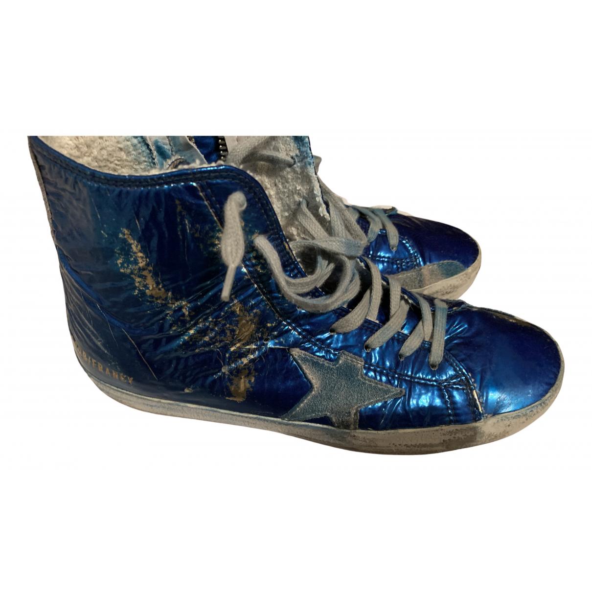 Golden Goose Francy Sneakers in  Blau Lackleder