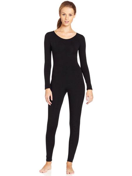 Milanoo Black Morph Suit Adults Bodysuit Lycra Spandex Catsuit for Women