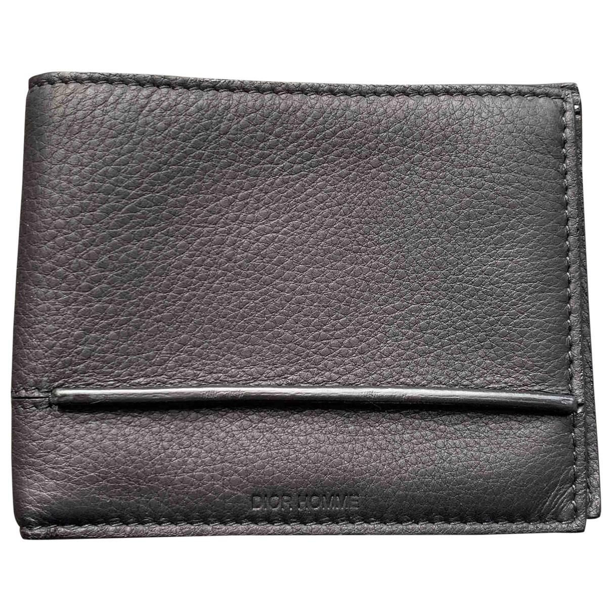 Dior Homme \N Black Leather Small bag, wallet & cases for Men \N