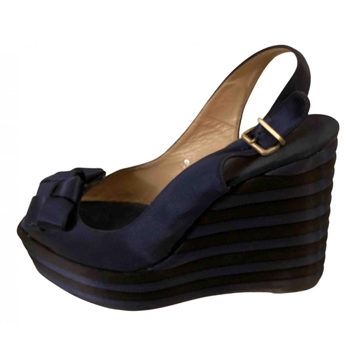 Castaner - Sandales   pour femme en toile - marine