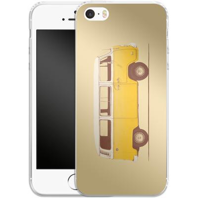 Apple iPhone 5 Silikon Handyhuelle - Yellow Van von Florent Bodart