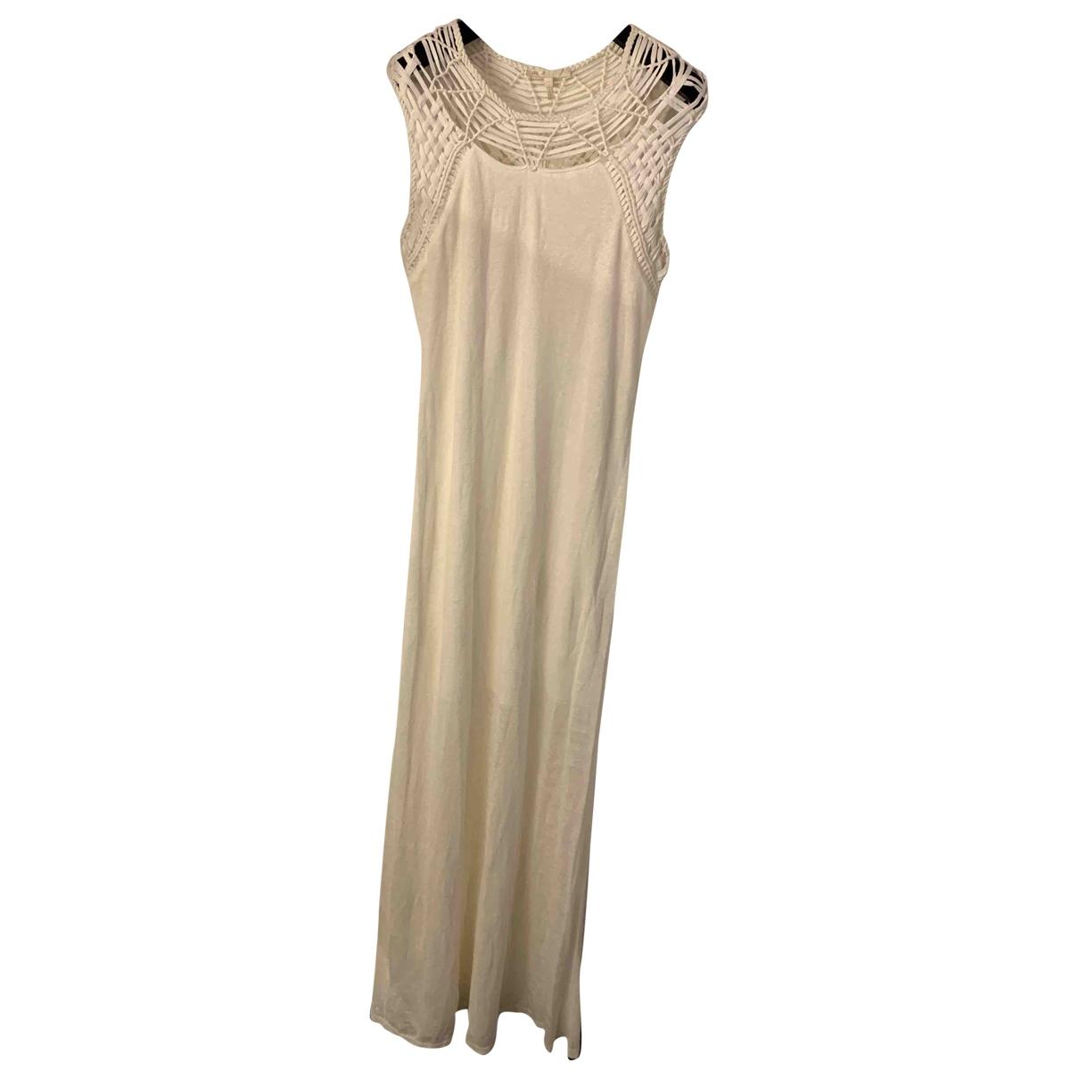 Maje \N Ecru Cotton dress for Women 3 0-5
