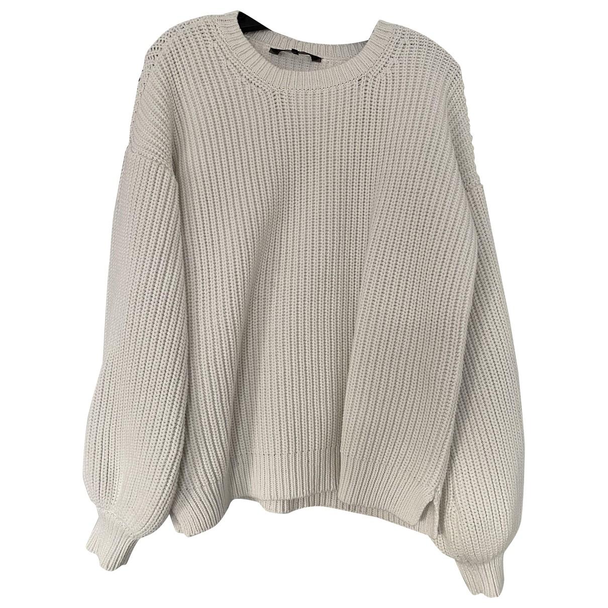 Bcbg Max Azria - Pull   pour femme en coton - blanc