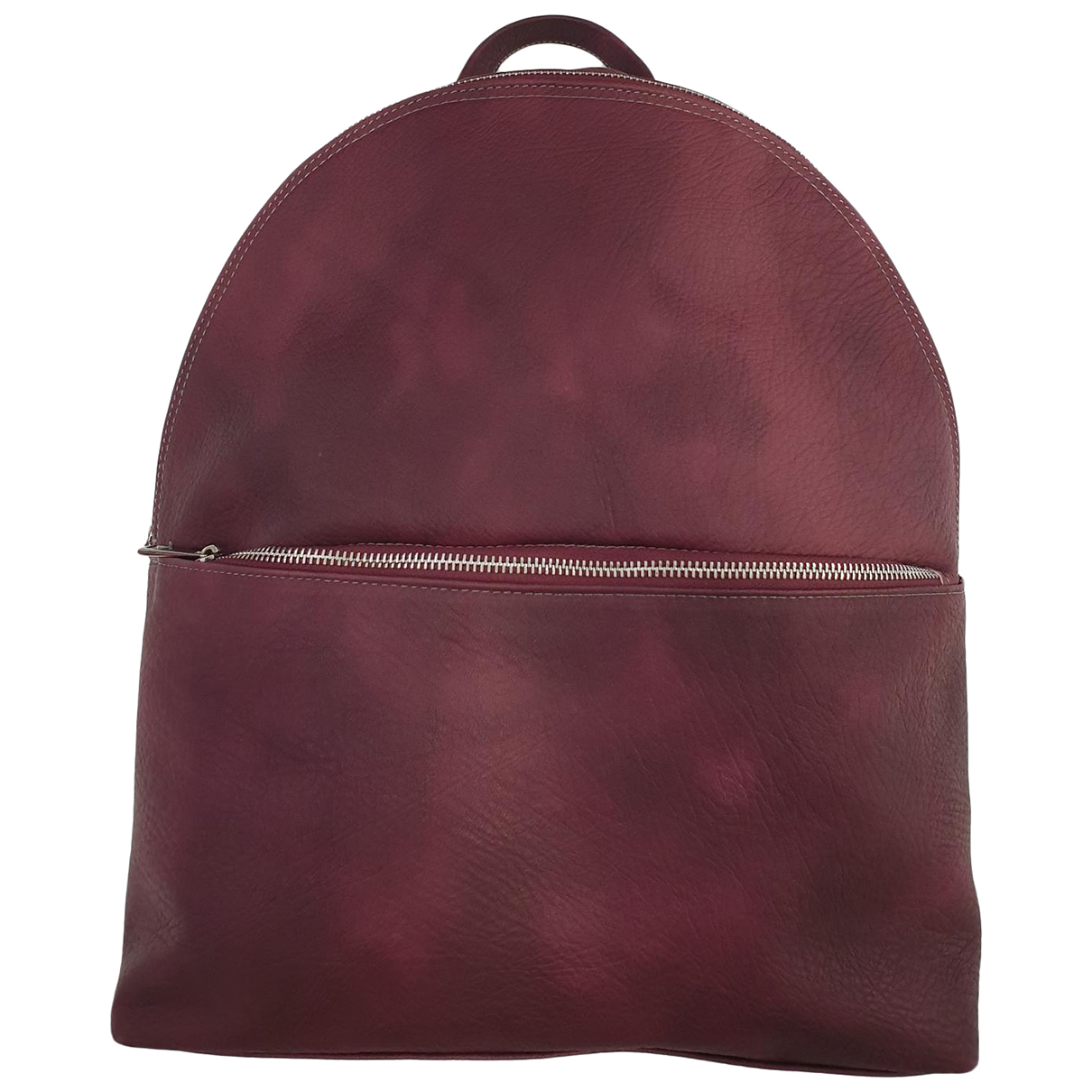 Non Signé / Unsigned N Burgundy Leather backpack for Women N