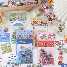 1set Cartoon Graphic Random Sticker