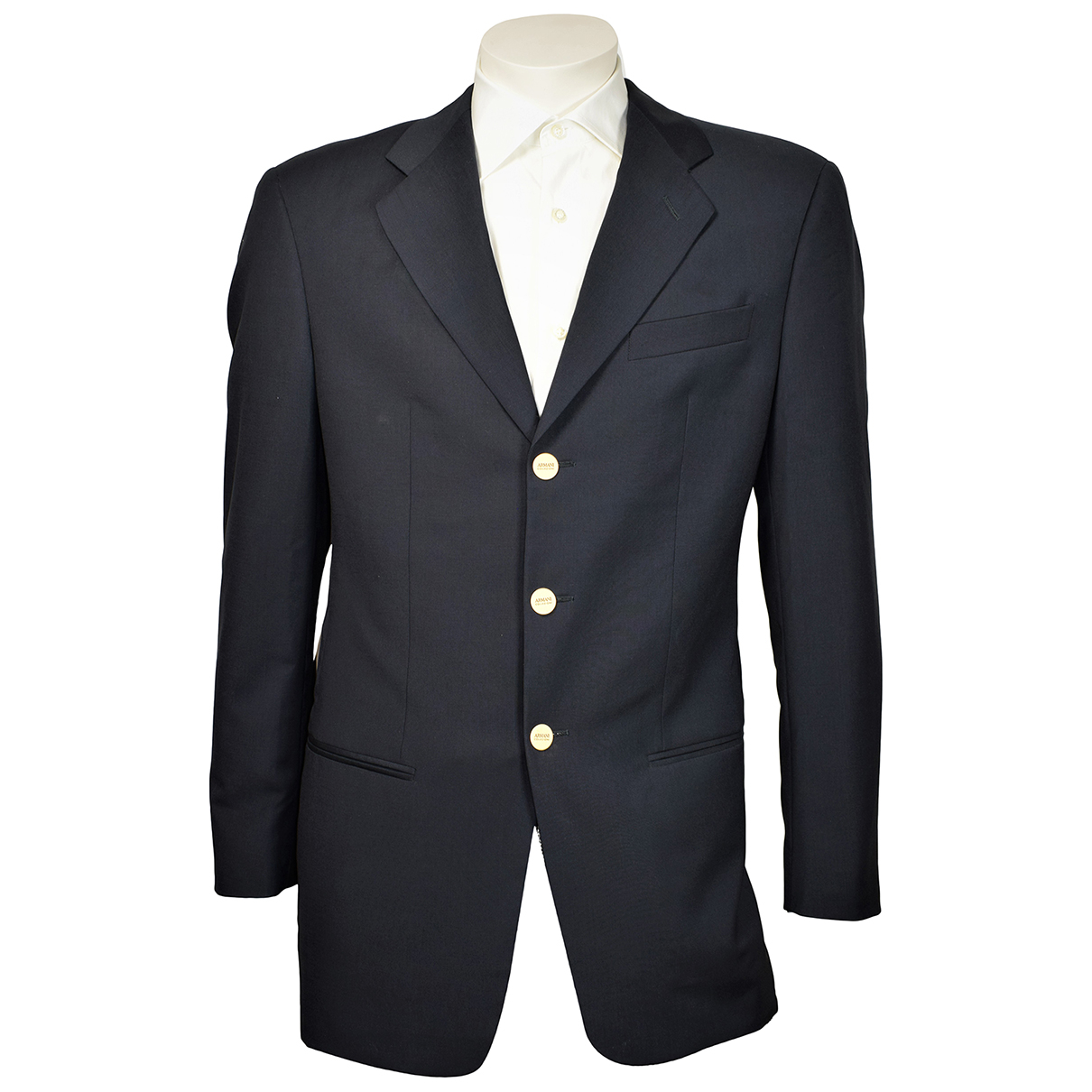 Armani Collezioni N Black Wool jacket  for Men 46 IT
