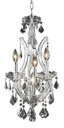 2800D12C/SA 2800 Maria Theresa Collection Hanging Fixture D12in H22in Lt: 3+1 Chrome Finish (Swarovski Spectra
