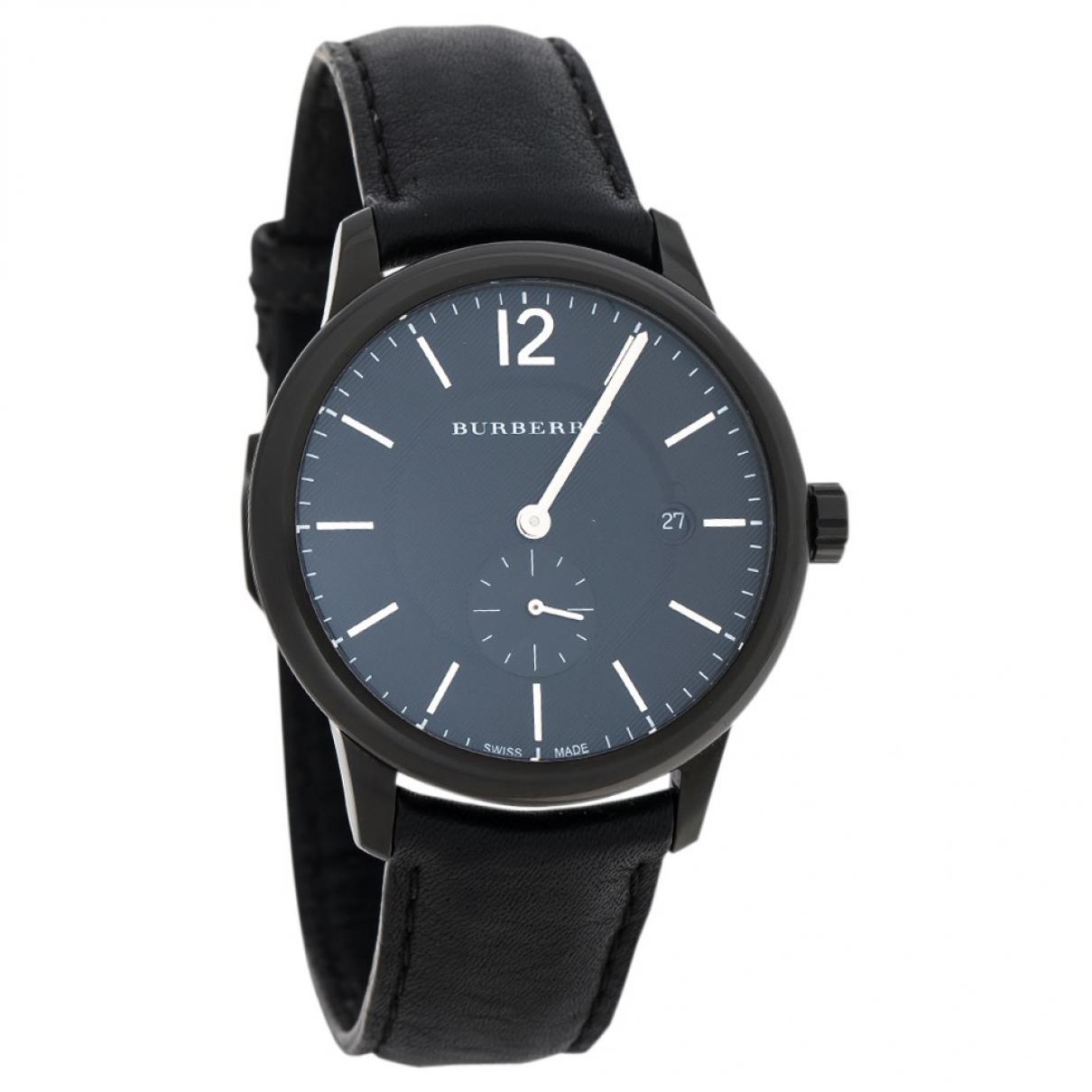 Burberry \N Uhr in  Schwarz Stahl