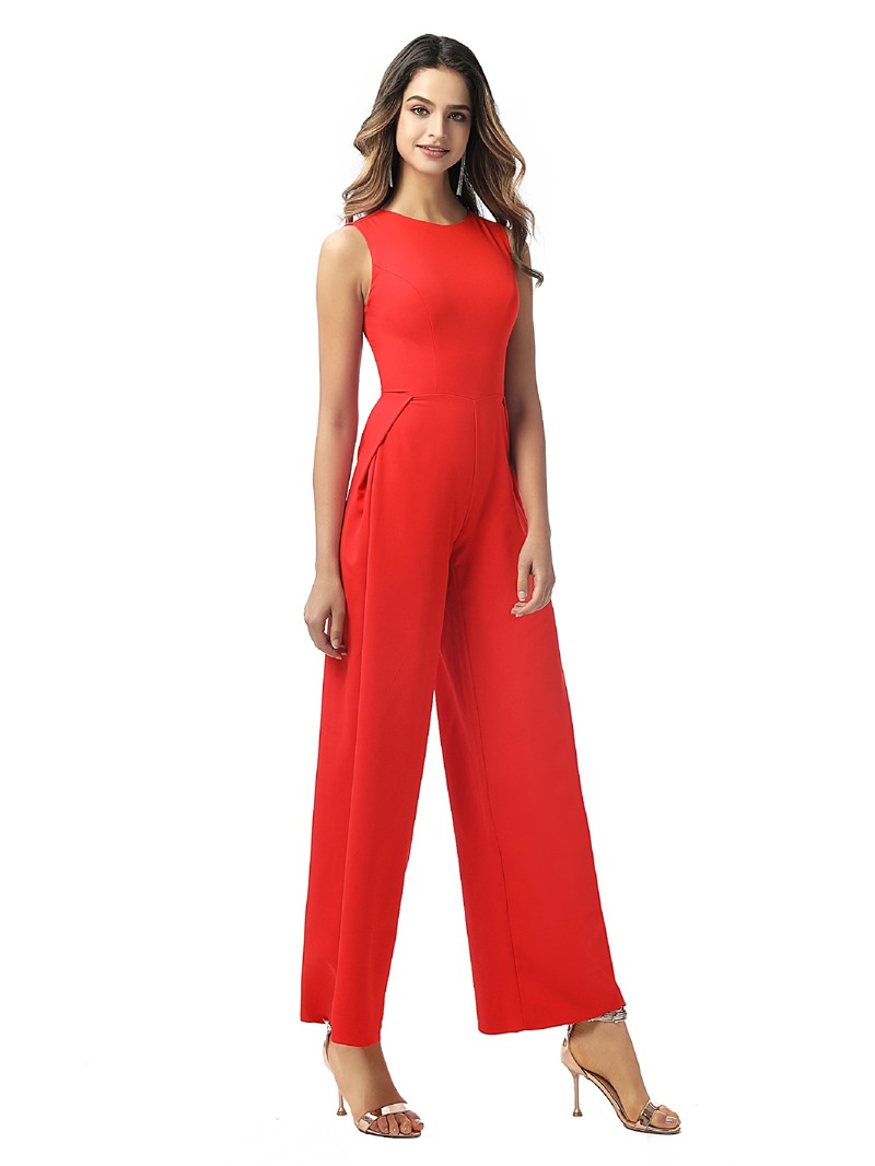 Ericdress Sheath Jewel Ankle-Length Ruched Evening Dress 2020
